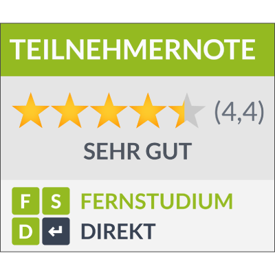 4,4 Stars on Fernstudium Direkt